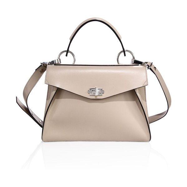 Proenza Schouler medium hava leather satchel in sand - An enduring silhouette modernized with luxe hardware....