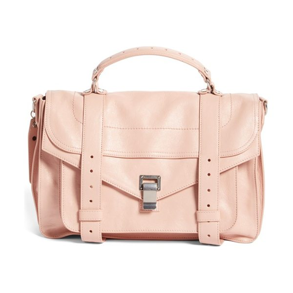 Proenza Schouler Medium ps1 satchel in bare - Spark accessory envy with Proenza Schouler's iconic PS1...