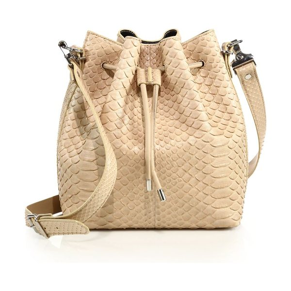 Proenza Schouler medium python bucket bag in light beige - Cinched silhouette cast in luxe python. Removable,...