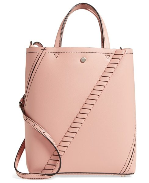 Proenza Schouler mini hex whipstitch calfskin leather tote in deep blush - Angled whipstitching accentuates the artful hexagonal...