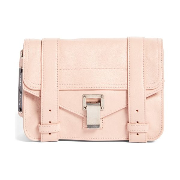 Proenza Schouler Mini ps1 lambskin leather satchel in bare - Supple lambskin leather is crafted into this compact...