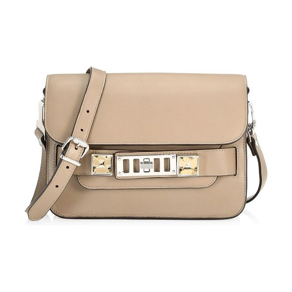Proenza Schouler mini ps11 leather crossbody bag in taupe