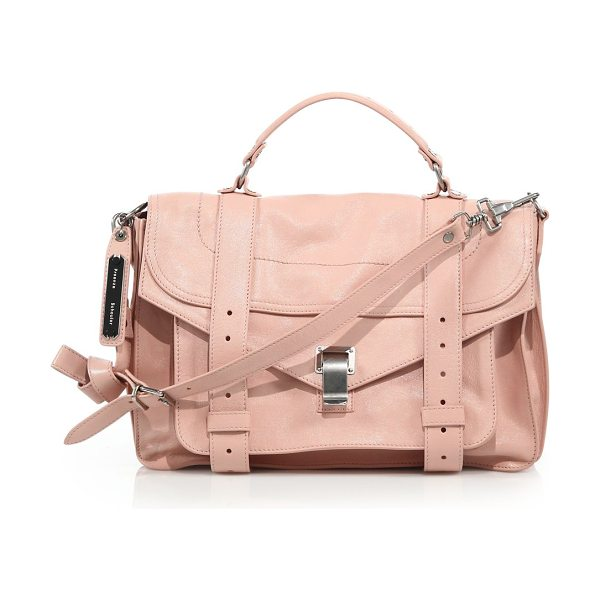 Proenza Schouler Ps1 medium leather satchel in bare - An iconic silhouette, with elevated messenger details....