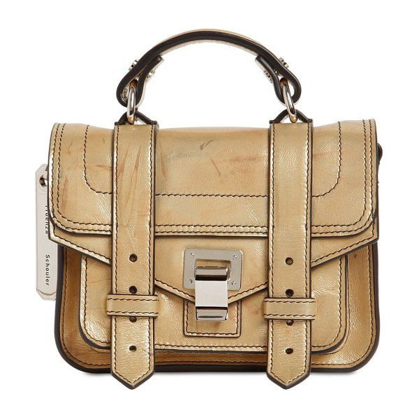 Proenza Schouler Ps1 micro leather bag in gold