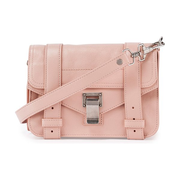 Proenza Schouler Ps1 mini luxe leather crossbody bag in bare - Proenza Schouler luxe lamb leather mini satchel with...