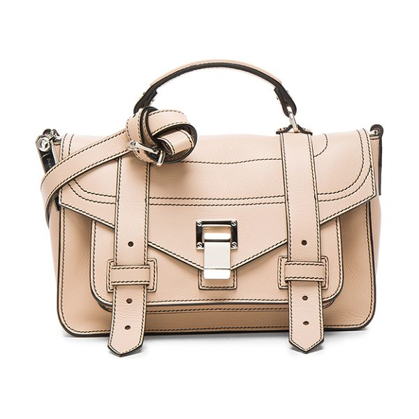Proenza Schouler Tiny PS1+ Grainy Calf Leather in sand - Genuine grained leather with fabric lining and...