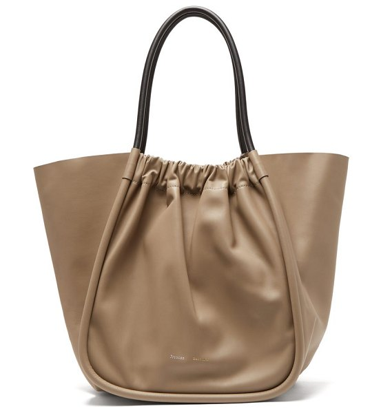 Proenza Schouler ruched xl leather tote bag in beige