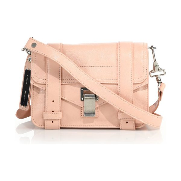 Proenza Schouler Ps1 mini leather crossbody bag in bare - Roomy crossbody expertly shaped in supple...