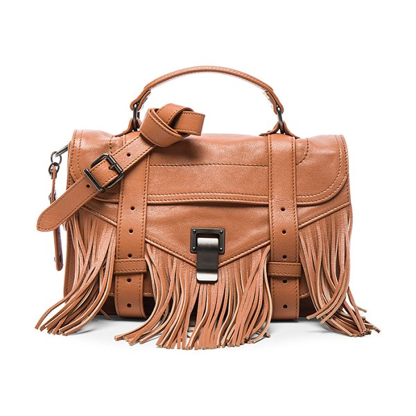 Proenza Schouler Tiny fringe ps1 bag in neutrals - Genuine leather with fringe detail features signature...
