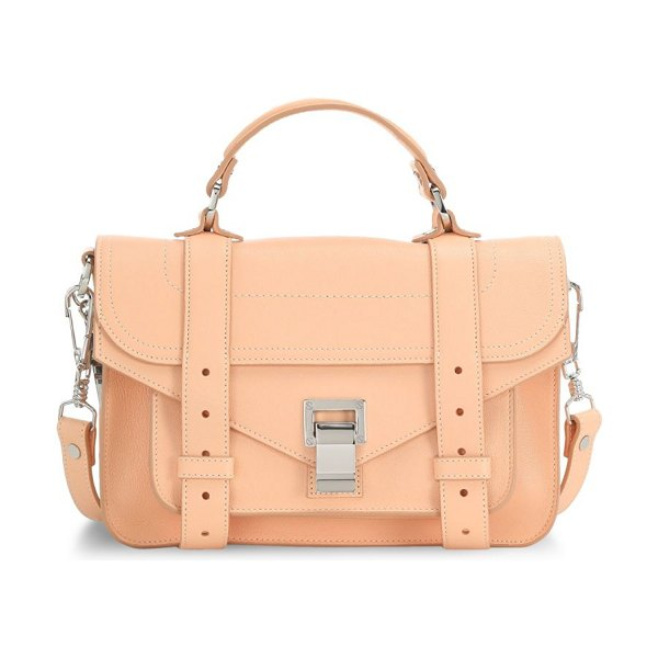 Proenza Schouler tiny ps1 leather satchel in peach