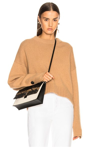Proenza Schouler Wool Cashmere Crewneck Sweater in neutrals - 70% wool 30% cashmere.  Made in China.  Dry clean only. ...