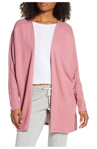 Project Social T rumine cozy cardigan in pink