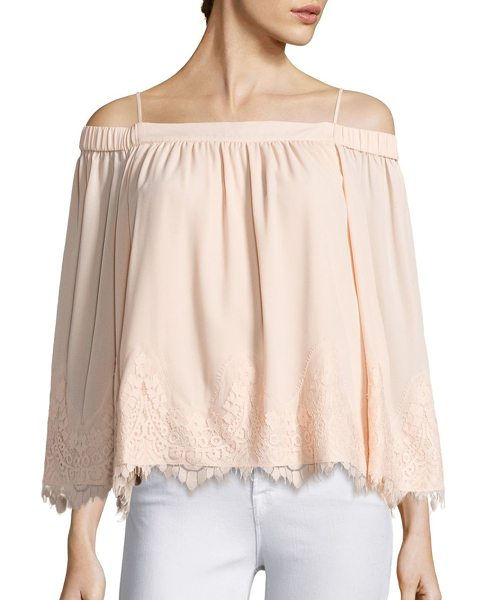 PROSE & POETRY mara off-the-shoulder blouse - Gorgeous blouse featuring lace trim details....