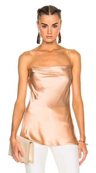 Protagonist Draped Bias Cami Top in bisque - 100% silk. Made in USA. Dry clean only. PROT-WS10....