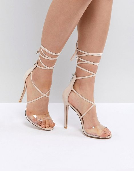 Public Desire aster clear strappy sandals in nudemicro - Sandals by Public Desire, Guaranteed to step up any...
