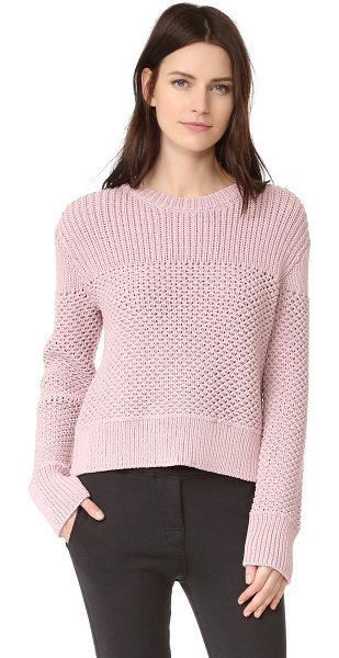 Public School bond sweater in pink - A mixed-knit Public School sweater with a subtle...