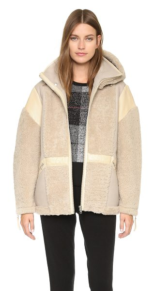 Public School Snorri shearling jacket in sand - A luxe Public School jacket composed of plush shearling...