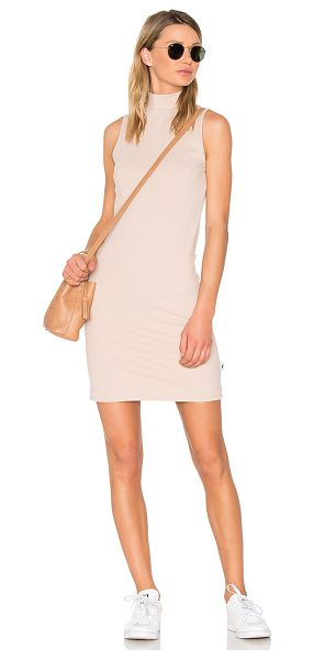 Publish Oasis Mini Dress in sand - Cotton blend. Unlined. Woven twill fabric. Exposed back...