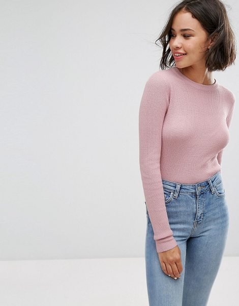 "PULL & BEAR Basic Crop Knit - """"Sweater by Pull Bear, Ribbed knit, Round neck, Regular..."
