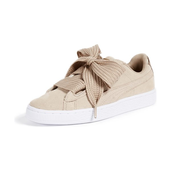PUMA basket heart safari sneakers in safari/safari - Leather: Cowhide Wide grommets Comes with satin and...
