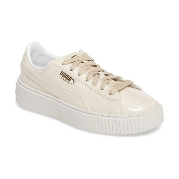 PUMA basket platform sneaker - The PUMA Basket sneaker first came on the scene in the...