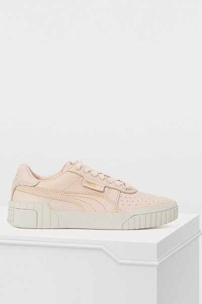 PUMA Cali Fashion embossed leather sneakers in cream - With these Cali Fashion embossed leather sneakers, we...