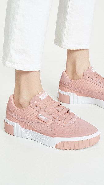 PUMA cali palm spring cc sneakers in peach bud - Leather: Cowhide Logo detailing Low tops Lace-up at top...