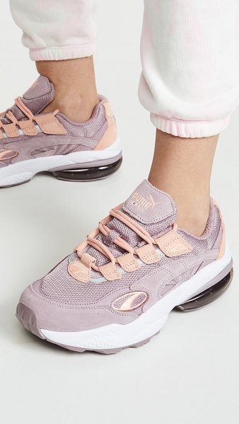 PUMA cell venom sneakers in elderberry/peach bud - Fabric: Mesh Tonal suede Embroidered logo Reflective...