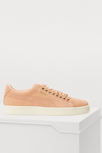 PUMA Chain sneakers in dusty coral
