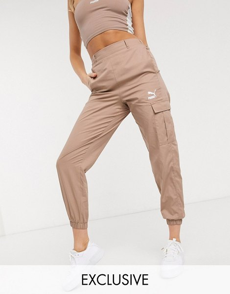 PUMA classics high waist utility pants in pink exclusive to asos in pink
