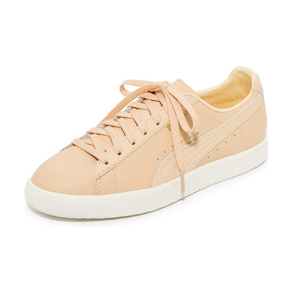 PUMA clyde natural sneakers - NOTE: Sizes listed are US Mens. Lighter and wider than...