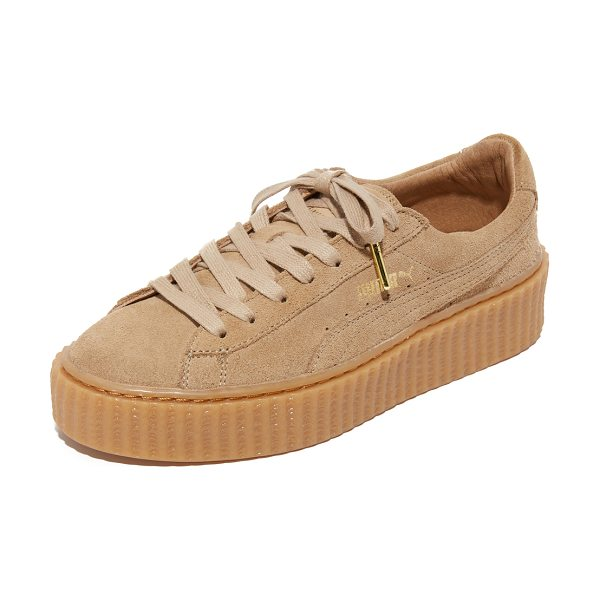 PUMA Creeper lace up sneakers - A ridged platform lifts these suede PUMA sneakers....