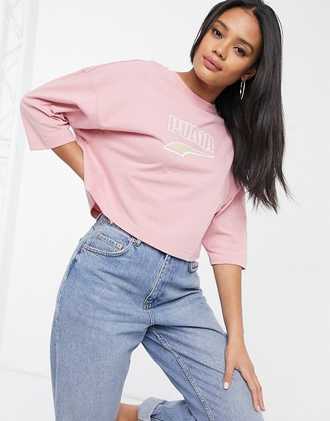 PUMA downtown oversized t-shirt in pink in pink
