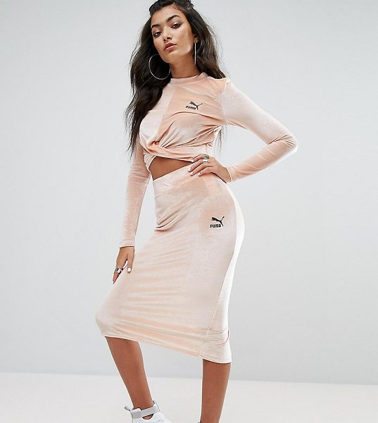"PUMA Exclusive To ASOS Velvet Bodycon Skirt in pink - """"Skirt by Puma, Soft-touch velvet, High-rise waistband,..."