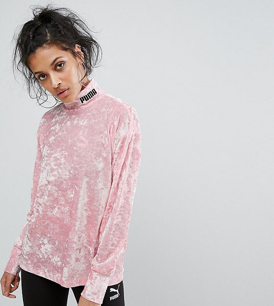 "PUMA Exclusive To ASOS Velvet Sweatshirt - """"Sweatshirt by PUMA, Soft-touch crushed velvet, High..."