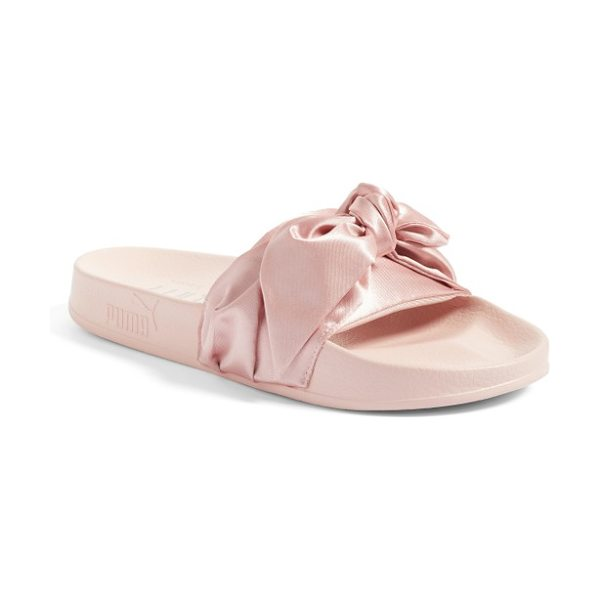 PUMA fenty  by rihanna bow slide in silver pink - Part of a collaboration with Rihanna's FENTY label, a...