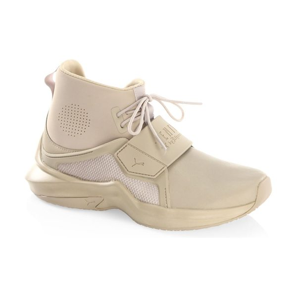 PUMA fenty by rihanna hi-top trainer sneakers in beige - From the FENTY by Rihanna Collection. Monochromatic...