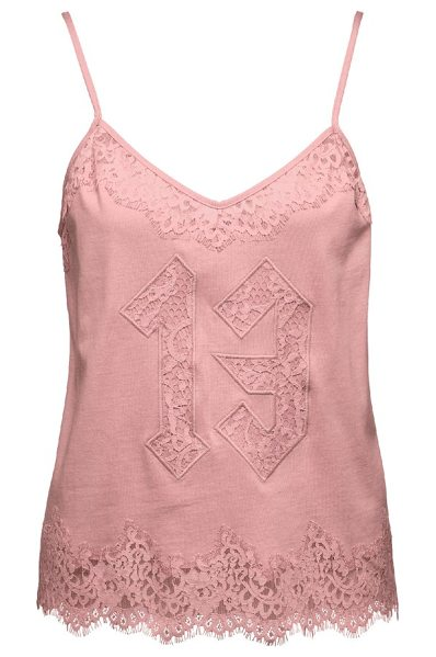 PUMA fenty  by rihanna lace camisole in pink tint - Frills and lace turn up the luxury on a soft jersey...