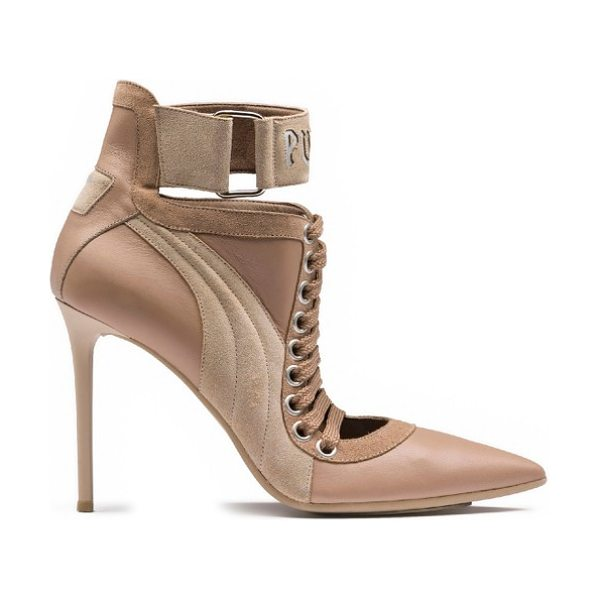 PUMA fenty  by rihanna lace-up sneaker pump in sesame-natural-natural - In collaboration with Rihanna's Fenty label, PUMA offers...