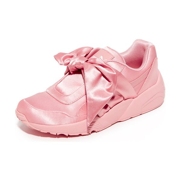 PUMA fenty x  bow trinomic sneakers in silver pink/silver pink - From Rihanna's FENTY x PUMA collection, luxe satin...