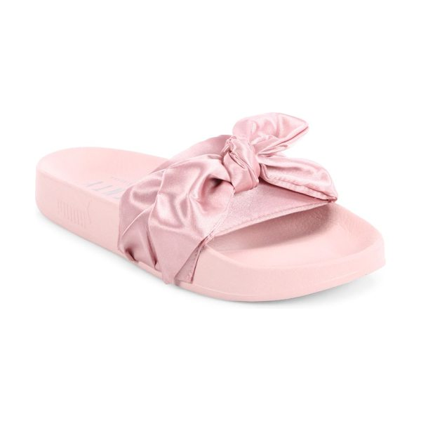 PUMA fenty  x rihanna satin bow slides in silver pink - From the FENTY Puma x Rihanna Collection. Sporty-chic...