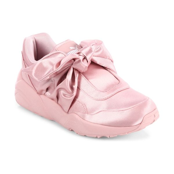 PUMA fenty  x rihanna satin bow sneakers in silver pink - From the FENTY Puma x Rihanna Collection. Sporty-chic...