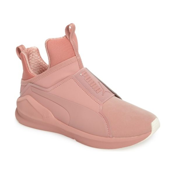 PUMA 'fierce core' high top sneaker in cameo brown/ marshmallow - PUMA takes street style to the extreme with an...