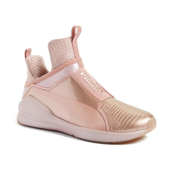 PUMA fierce metallic high top sneaker in rose gold - PUMA takes street style to the extreme with an...