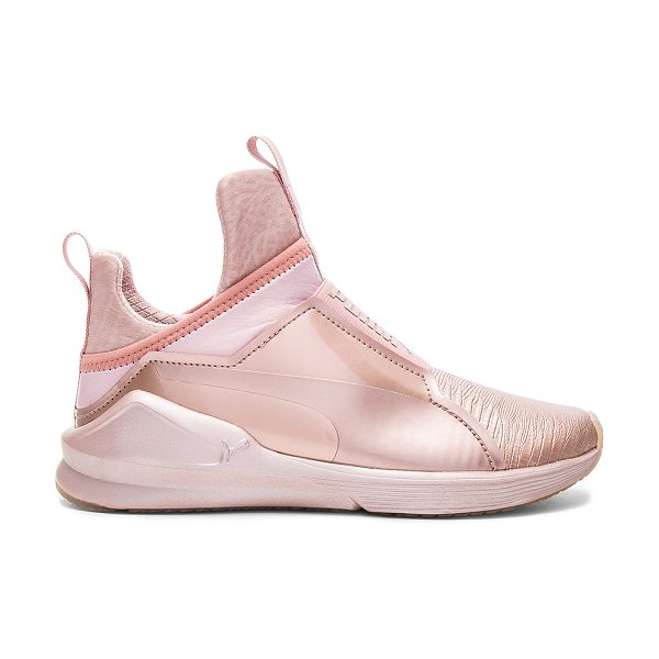 PUMA Fierce Metallic Sneaker in metallic copper - Textile upper with rubber sole. Elasticized pull on...