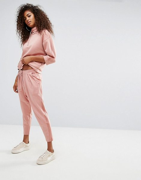 """PUMA High Waisted Joggers With Sheer Panelling in pink - """"""""Sweatpants by PUMA, Soft-touch sweat, High-rise cut,..."""
