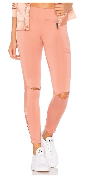 PUMA Lux Legging in cameo brown - Self: 91% poly 9% elastaneContrast: 100% poly....