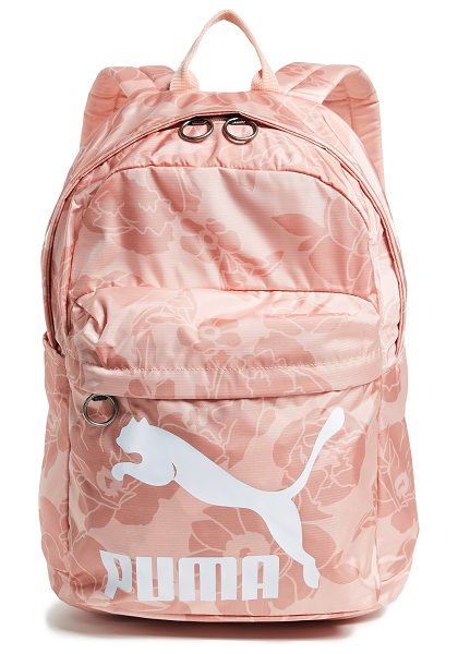 PUMA originals backpack in light pastel pink - Fabric: Nylon Brand and logo print Zip at top Zip...