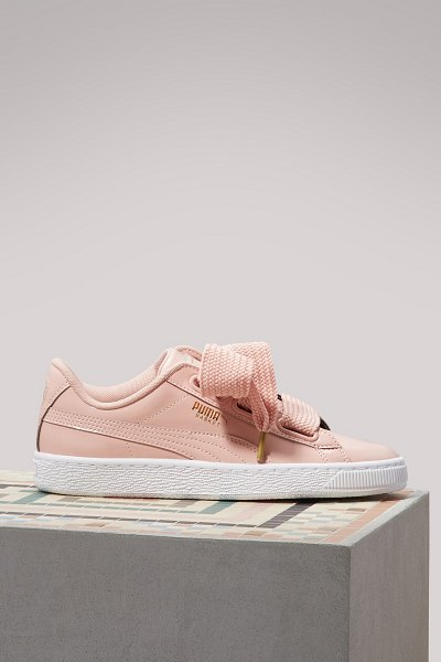 PUMA Patent leather Heart sneakers in peach