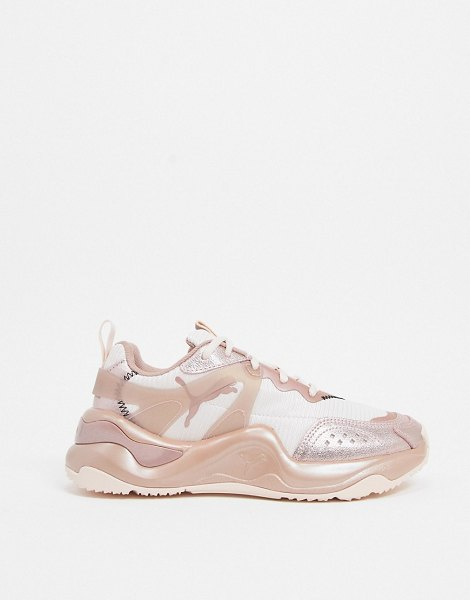 PUMA rise sneakers in rose gold-pink in pink